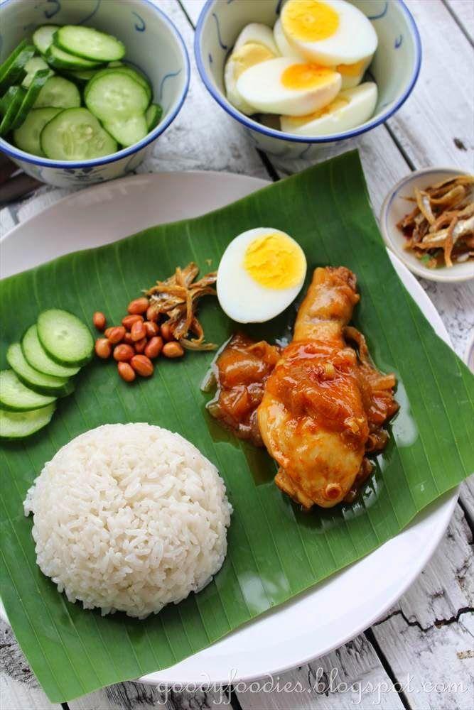 GoodyFoodies: Recipe: Nasi lemak with Malaysian sweet chilli chicken