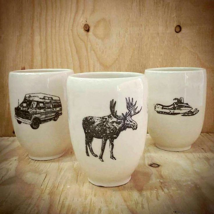 Nouvelle collection maintenant disponible en ligne ! :D #céramique #Québec #orignal // New ceramic collection now available online! #moose #pottery #ceramics #Quebec