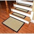 Dean Attachable Non-Skid Sisal Carpet Stair Treads - Desert - Set of 13 - Transitional - Stair Tread Rugs - by Dean Flooring Company, LLC also has washable ones