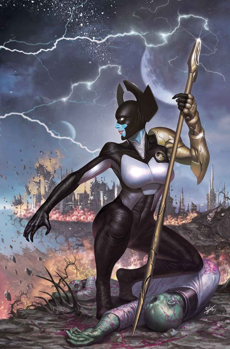 Proxima Midnight  one of Thanos' generals in the Black Order