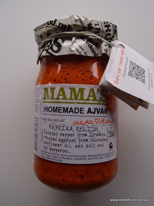 Mama's 'Homemade' Ajvar has been a summer sandwich revelation. Slap it thickly on sliced bread with cheese and tomato. This one has some added chilli heat.
