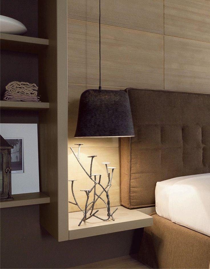 Camera da letto in abete in stile moderno NUOVO MONDO N09 by Scandola Mobili