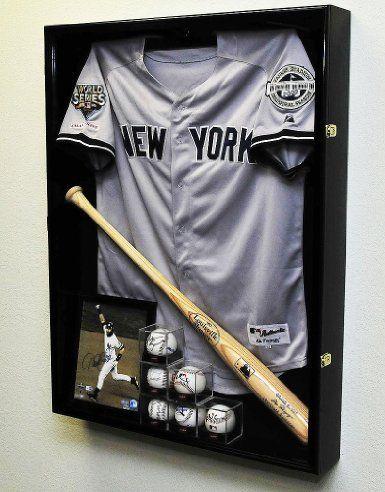 Amazon.com: Extra Deep Jacket, Uniform, Jersey Shadow Box Display Case Cabinet w/ UV Protection, Black: Sports & Outdoors