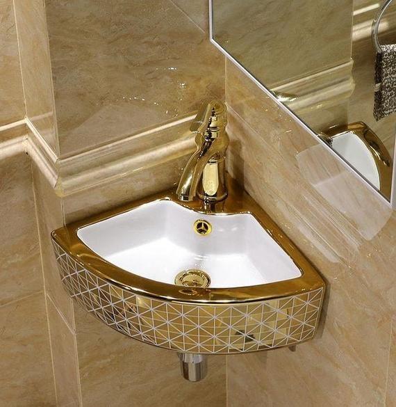 Vintga Europe Luxury Lotus Petal Bathroom Vanitie Chinese Jingdezhen Art Counter Top Ceramic Small Size Wash Basin Counter Bathroom Sink Design Bathtub Remodel