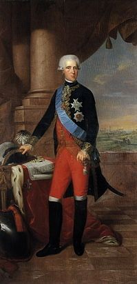 Frederick, prince of Hesse-Kassel, painted by Wilhelm Böttner, 1787. He was born as the youngest son of Hereditary Prince Frederick of Hesse-Kassel (the future Landgrave Frederick II) and Princess Mary of Great Britain. He was the last surviving grandchild of George II of Great Britain, dying one month before his first cousin twice removed, Victoria ascended to the throne.