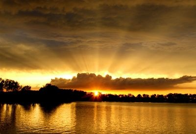 Glorious sunset over Foss Lake in Oklahoma   Credit: Joy Franklin