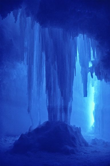 This picture of ice stalactites that have grown to meet the seafloor was taken in Antarctica's McMurdo Sound.