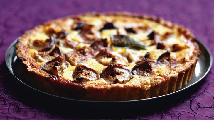 Fig and almond crostata.