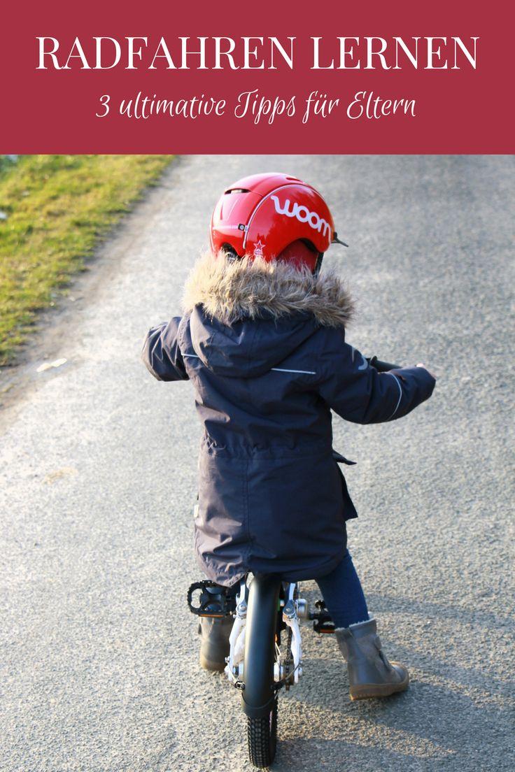 Radfahren lernen: Tipps für Eltern, die mit ihrem Kind Radfahren üben möchten. Damit das Fahrradfahren lernen für Kinder ein Erfolg wird, sollte man als Eltern einiges beachten. Ansonsten ist der Frust bei Kindern schnell groß. Zudem gibt Tipps, was man beim Kinderfahrrad Kauf beachten sollte. - Werbung