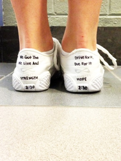 Love the idea of putting time goals on your shoes. Maybe once you hit the goal writing the date and retiring the shoes,!?!?!
