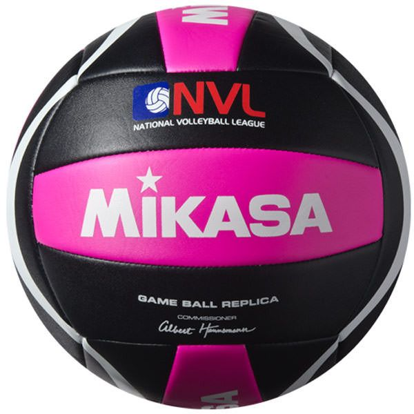 Mikasa NVL-VX Outdoor Replica Volleyball in Black/Pink
