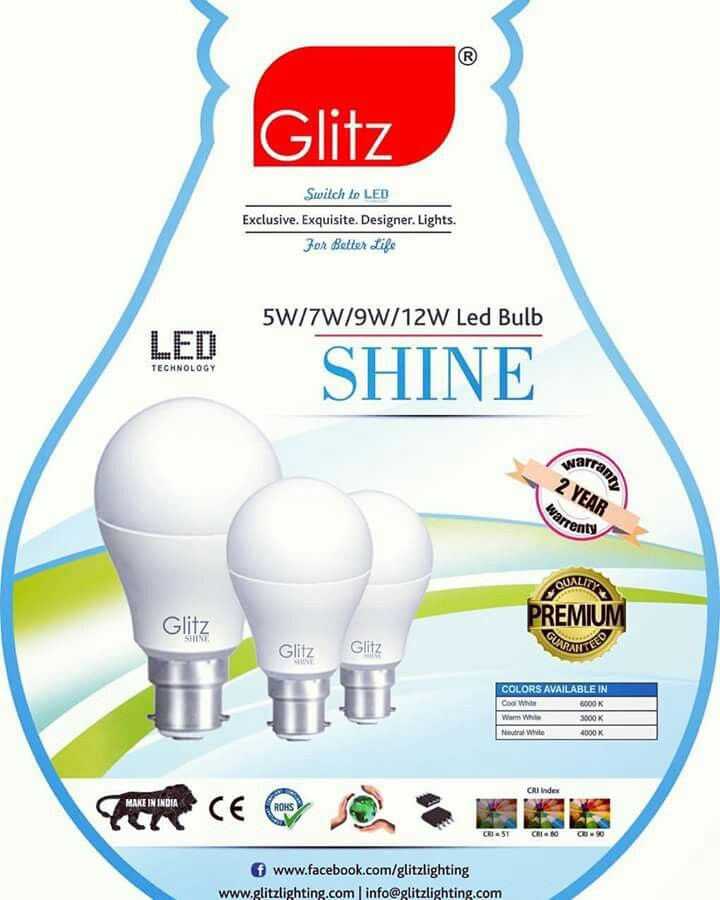 Launch of led bulbs, glitzlighting, shine and led b22 cool white, warm white, switch toled for a better life, make in India , buy now @www.amazon.in