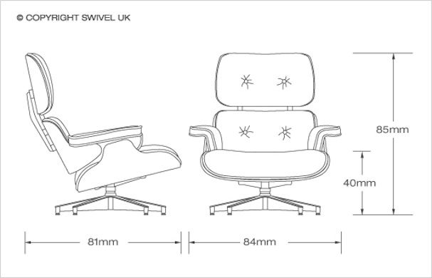 eames lounge chair dimensions cm buscar con google