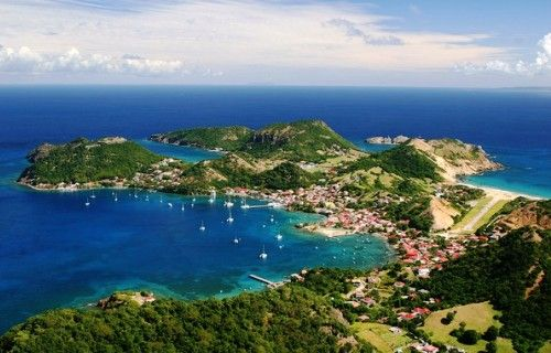 iles des saintes is a tiny island off the coast of Guadeloupe in the French Caribbean Islands.