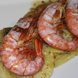 Gambones con patatas y cebolla   Recetas de pescado   Recetas Lékué