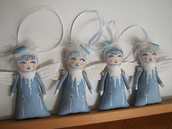 Icicle Angel Tree Trimmers by Hally Levesque