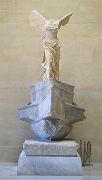 *ルーブル美術館の見所* 修復が完了したサモトラケのニケ