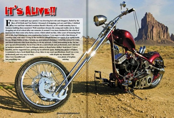 Spread in April 2013 Horse Backstreet Chopper of the panhead Masterbeast! www.gothardt.com