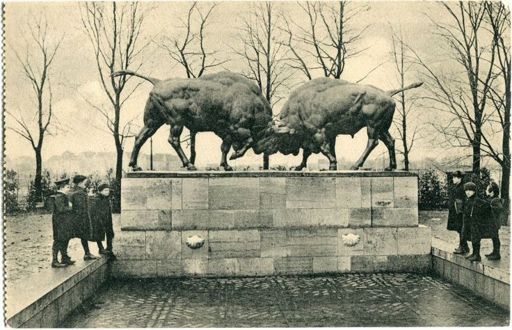KÖNIGSBERG /Ostpr. /KALININGRAD Hufenallee Auerochsengruppe 1916