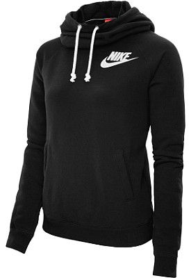 This NIKE Women's Rally Funnel-Neck Hoodie has been trending on Pinterest all week! Now... what color is your must-have?