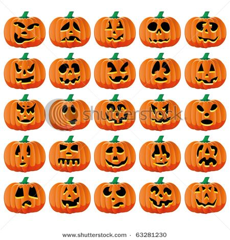 Jack-o-lantern faces #Halloween