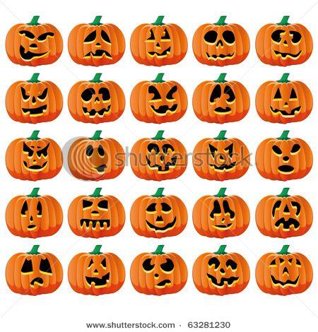 Jack-o-lantern faces #Halloween