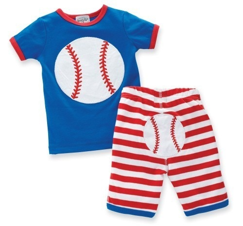 Mud Pie Baby Boy Little Sport Baseball 2-Piece Shirt And Pant Set - So Cute | Littles ...