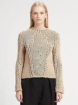 Alexander Wang Seamless Chunky Hand-Knit Sweater