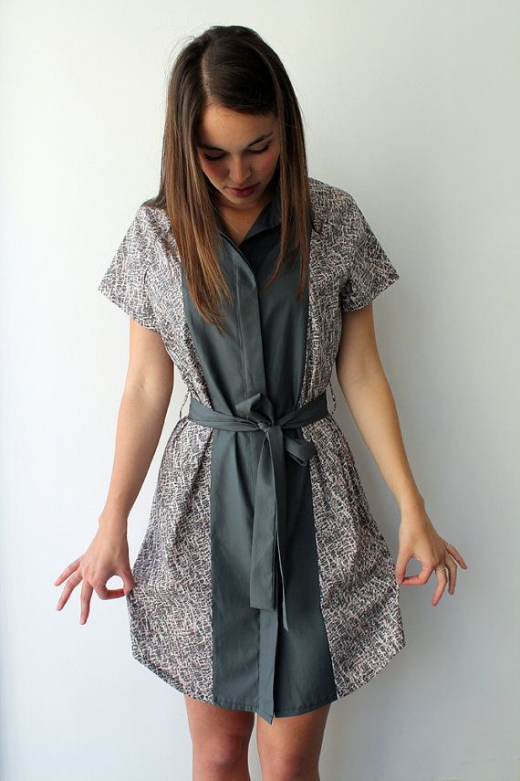 Women shirtdress women button down blouse dress women by Galalabel