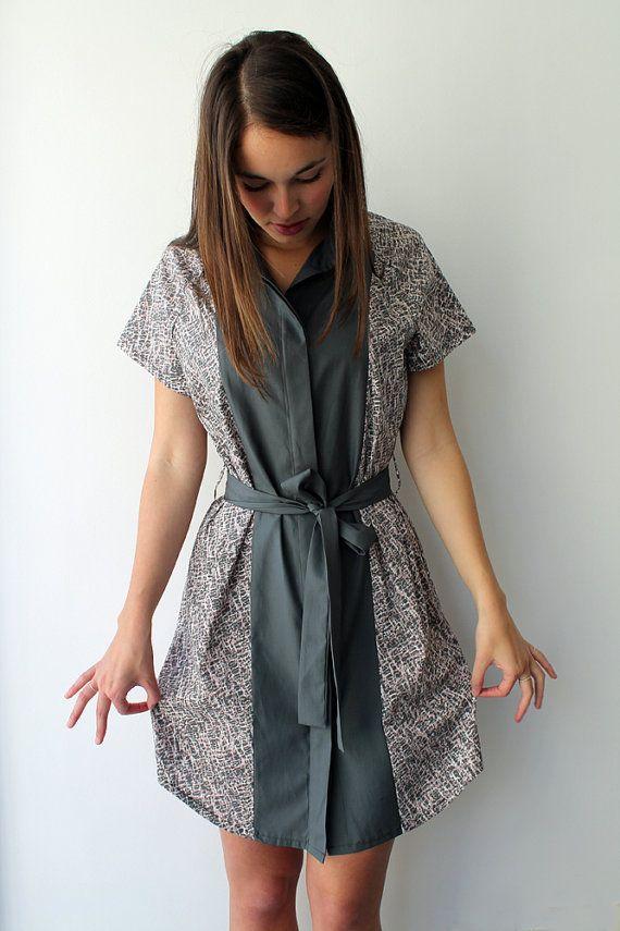 Women shirtdress, women button down dress, women smart dress,kimono dress