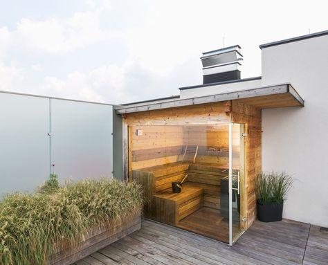 Die besten 25+ Aussensauna modern Ideen auf Pinterest Saunen - schlichtes sauna design holz seeblick