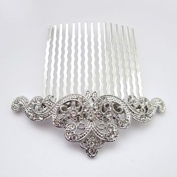 Rhodium Silver Vintage Rhinestone Comb.  Make it yours: http://styleyourday.com.au/products/Rhodium_Silver_Vintage_Rhinestone_Comb-793-111.html #bridalhair #bridalhairaccessories