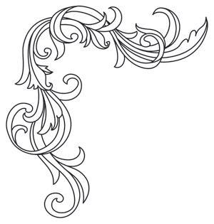 Gilded Heraldry - Top Frame Edge design (UTH7841) from UrbanThreads.com