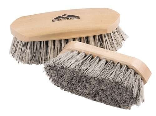 Himalayan Horse Brush Grey English 7.5 Inches by JPC. $17.96. Himalayan Horse Brush Grey English 7.5 Inches. Grey English Is A Medium Stiff Natural Mixture Brush. Good For Loosening Mud On Summer And Clipped Coats, Manes And Tails.