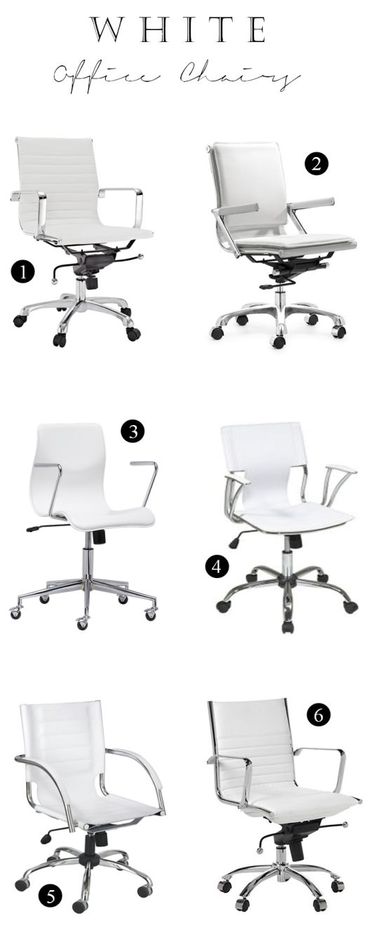 White office chairs for the perfect white office