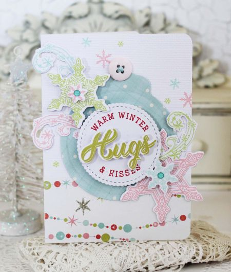 Hugs & Kisses Card by Melissa Phillips for Papertrey Ink (November 2016)