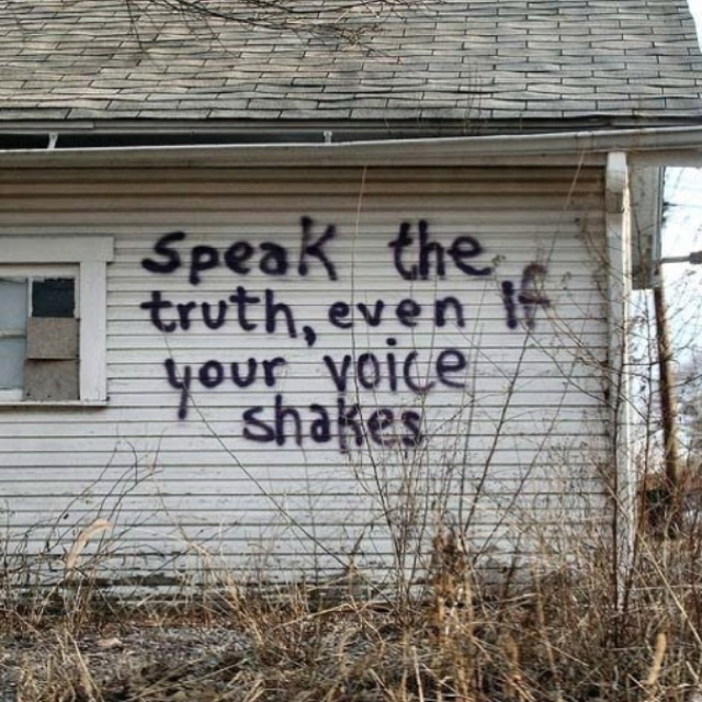 Speak the truthRemember This, Wisdom, Speak, So True, Favorite Quotes, Living, Voice Shakes, Inspiration Quotes, Tell The Truths