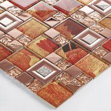 Красный цветочный деко зеркало стена плитка ванная гостиной мозаика стекло плитка кухня спинка умывальника камин телевизор задняя часть стена плитка искусство(China (Mainland))