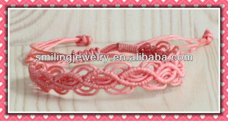 Modello easy rosa bracciale macrame pattern macrame braccialetto vendita tutorial arcobaleno partito pack favori di nozze braccialetti luminosi, - italian.alibaba.com