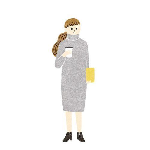 今年人気のニットワンピ。タートルがゆったりしつつきちんと立ってくれて(これ重要!) 膝丈でシンプルでお安く、、と探していたらギャルブランドに理想的なのがあった✨初めて入店したよセシルマクビー。  #ootd#コーディネート#fashion#fashionillustration