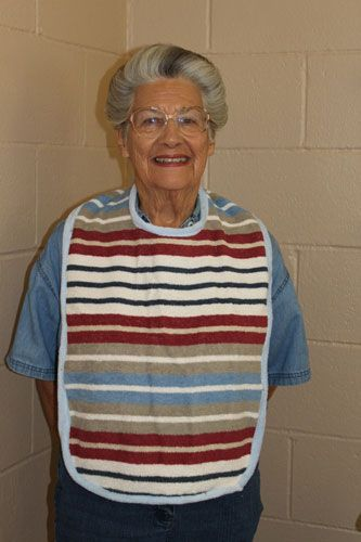 Adult+Bib+Pattern+From+Towels | The Molino Homemakers recently made adult-size bibs for rehabilitation ...