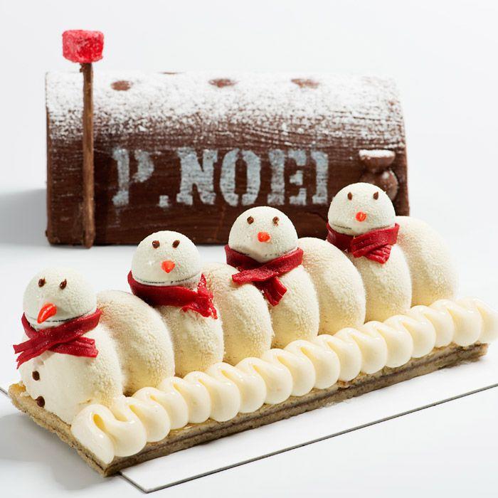 """Bûche de Noël 2015 """"La Bûche enneigée dans sa boîte aux lettres du Père Noël"""", Maëlig Georgelin"""