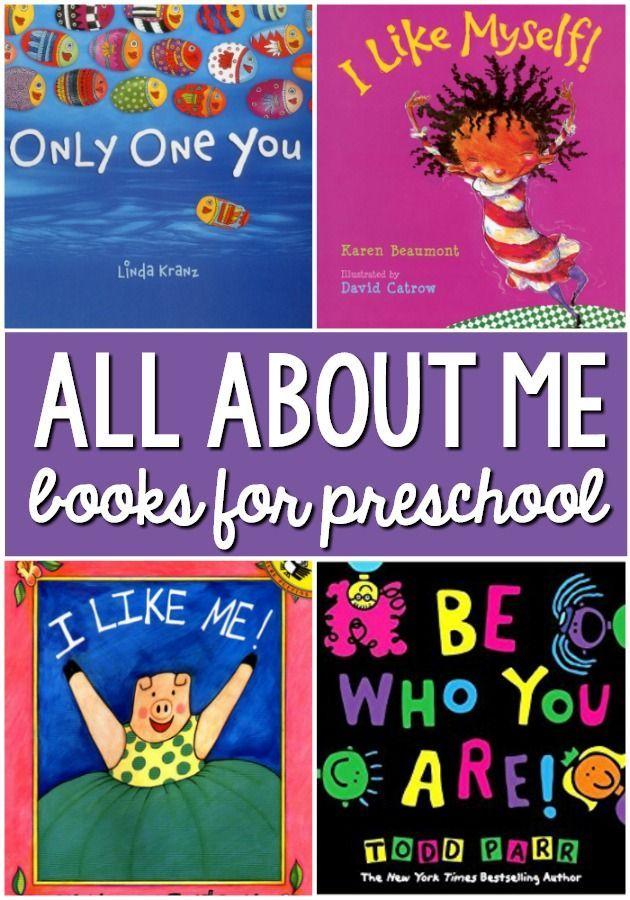 All About Me Books for Preschool. A book list for an all about me theme in your preschool or kindergarten classroom #preschool