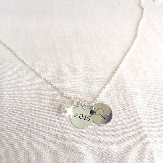 Graduation Necklace Graduation Gift Personalized by StampedSchmuck