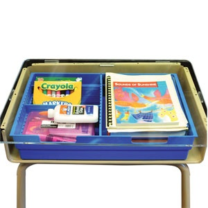 Perfect way to keep student desks organized!  Student Desk Divided Organizer Tray – Set Of 6: Schools Desks, Desks Organizations, Desks Bots, Students Desks Trays, Organizations Trays, Desks Schools, Bring Organizations, Classroom Organizations, Bots Bring