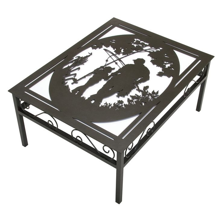 Nostalgic Fishing Metal Coffee Table Design Cut Your Own Metal Design With A Plasmacam Cnc