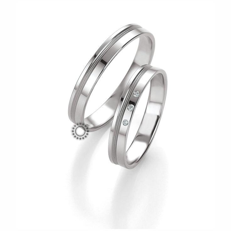 Βέρες γάμου BENZ 025 & 026 - Πολύ μοντέρνες λευκόχρυσες βέρες Benz με διακριτικές λεπτές ματ γραμμές | Βέρες ΤΣΑΛΔΑΡΗΣ #βέρες #βερες #γάμου