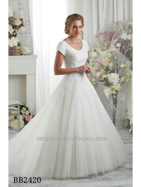 LDS wedding dress - ballgown