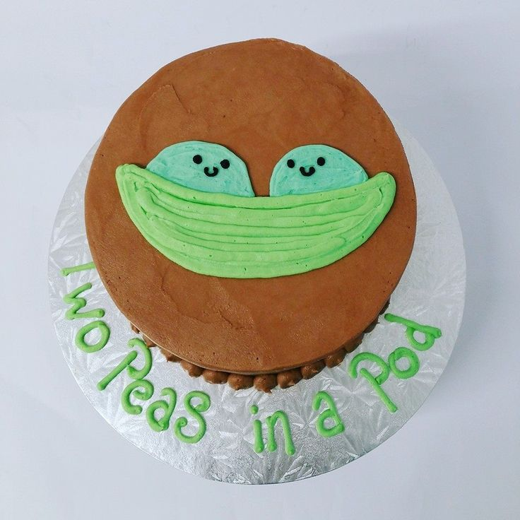 Smooth Chocolate Cake with Peas in a Pod