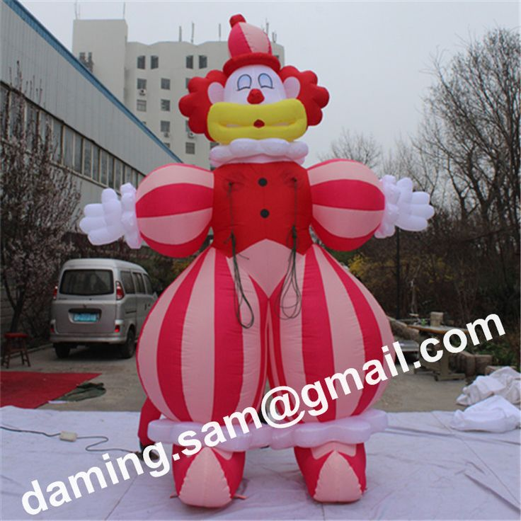 2.5m High Nightclubs decoration giant can be customed giant inflatable clown